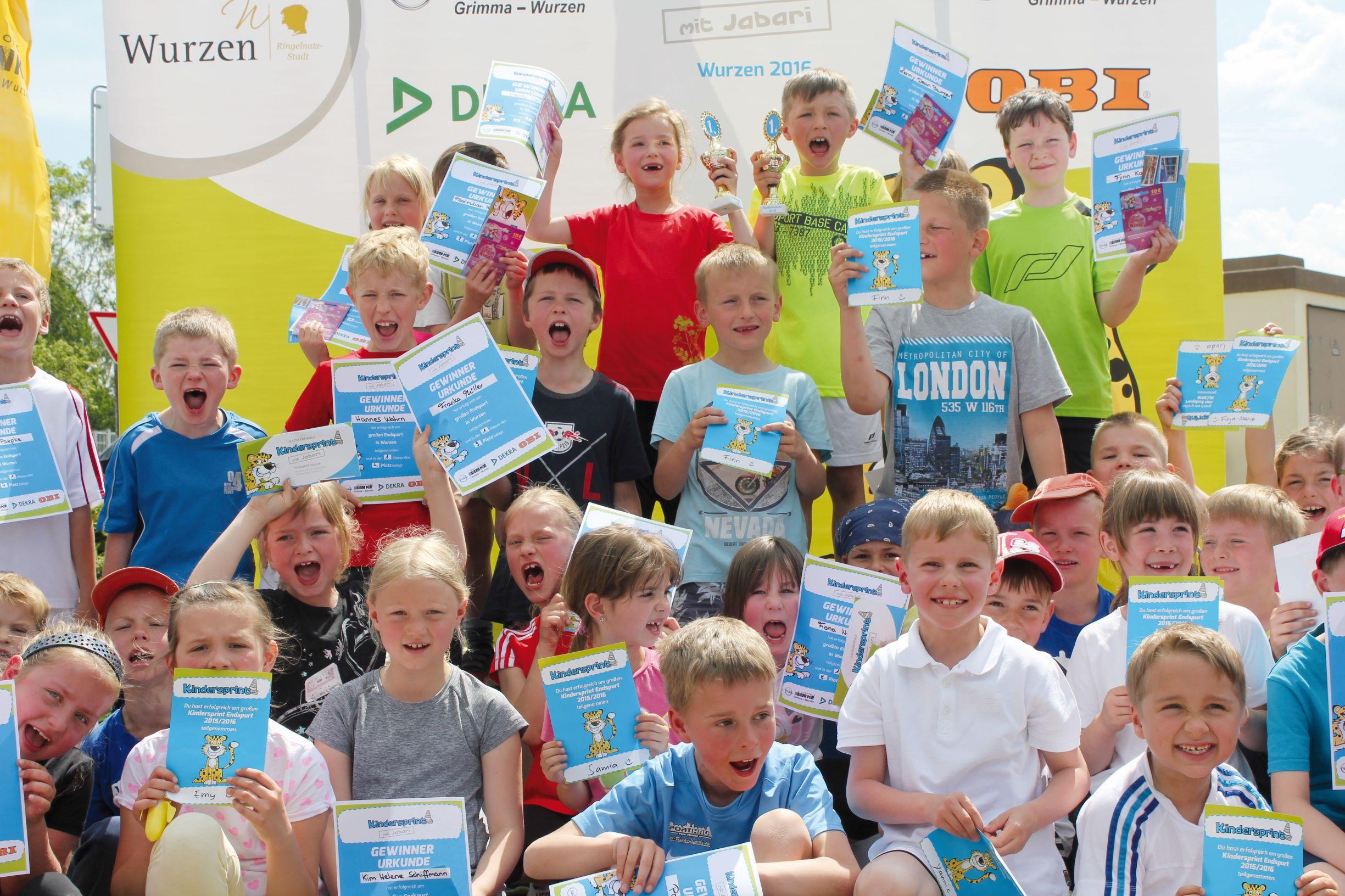 Siegerehrung beim Kindersprint Finale