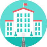 Schulgebäude Icon