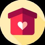Häuschen mit Herz Icon